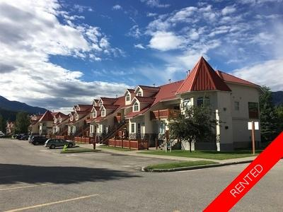 Fernie Townhouse for rent: Riverside Condos 3 bedroom